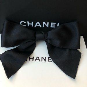 Authentic Chanel Rare Vintage Satin Bow Barrette
